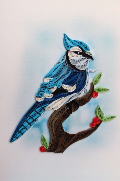 Blue Jay Quilling Card - UViet Store