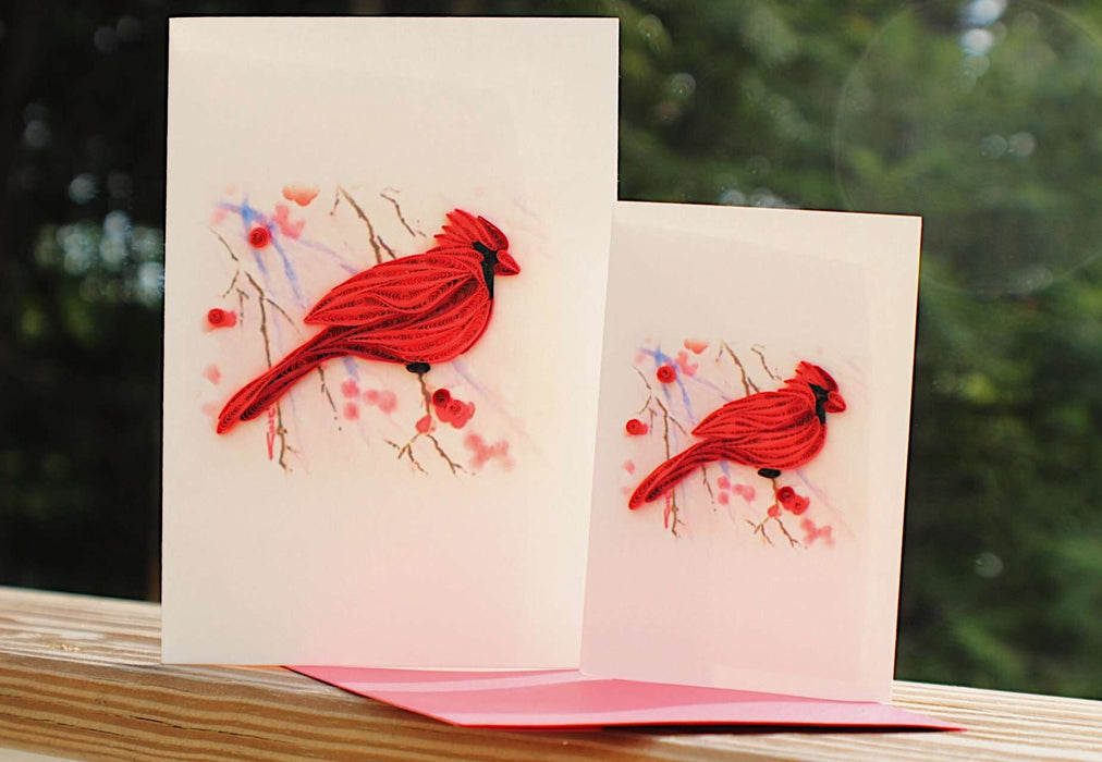 Cardinal (Mini) Quilling Card - UViet Store