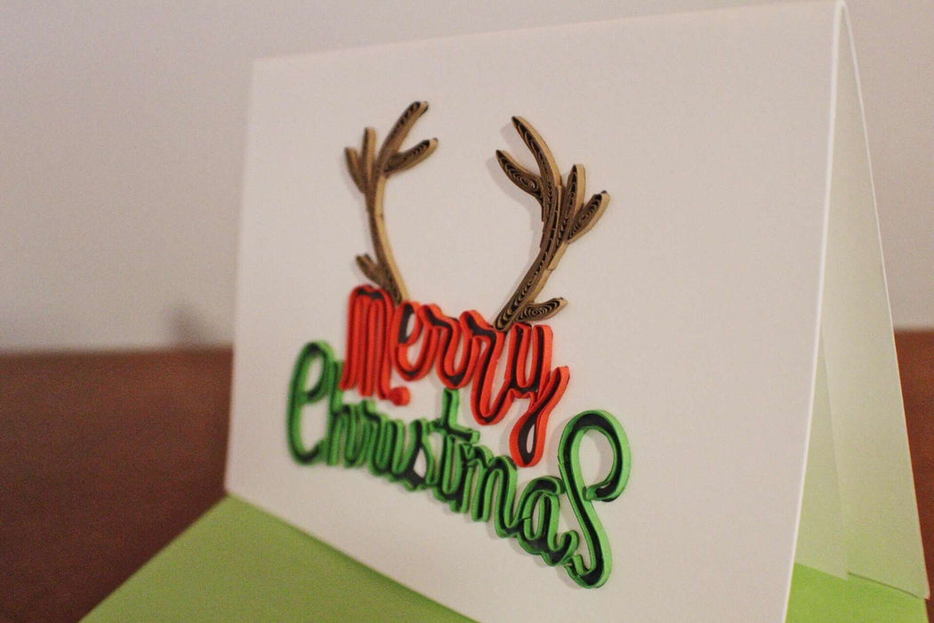 Christmas Antlers Quilling Card - UViet Store