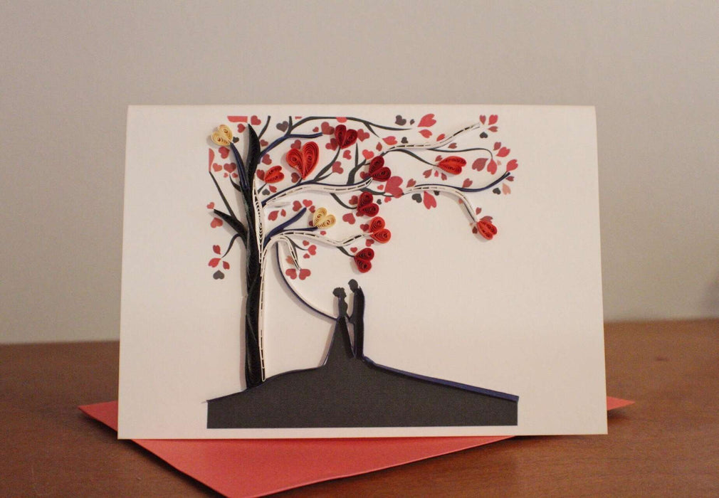 Under the Tree Quilling Card - UViet Store