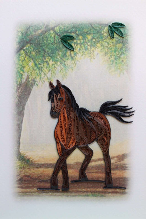 Horse Quilling Card - UViet Store