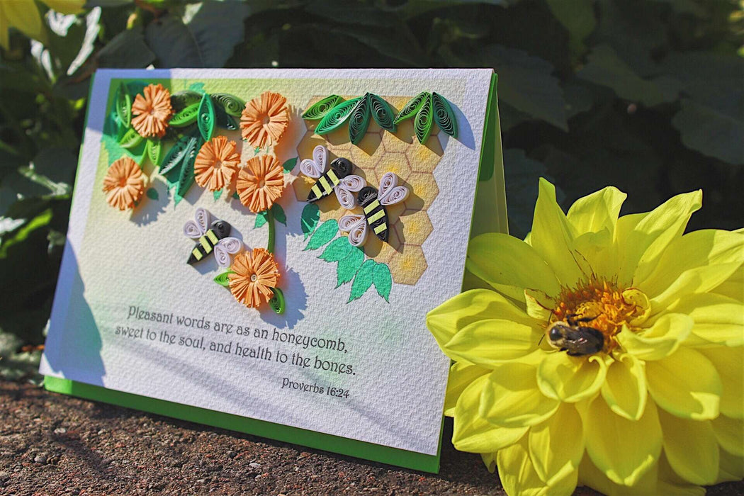 Pleasant Words Quilling Card - UViet Store