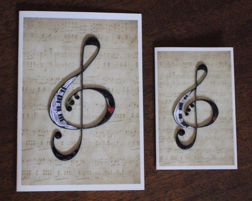 Treble Clef Quilling Card - UViet Store