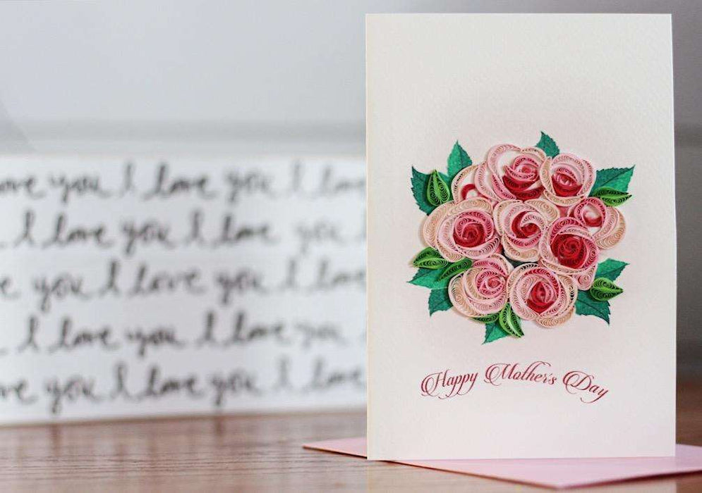 Mother's Day Roses Quilling Card - UViet Store