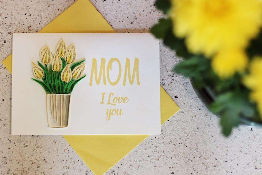 Mom I Love You Quilling Card - UViet Store