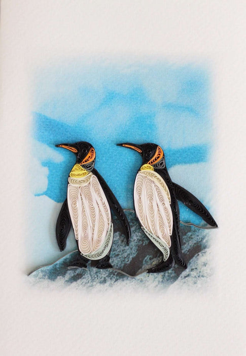 P.S. Penguins (2 cards/ package) Quilling Card - UViet Store