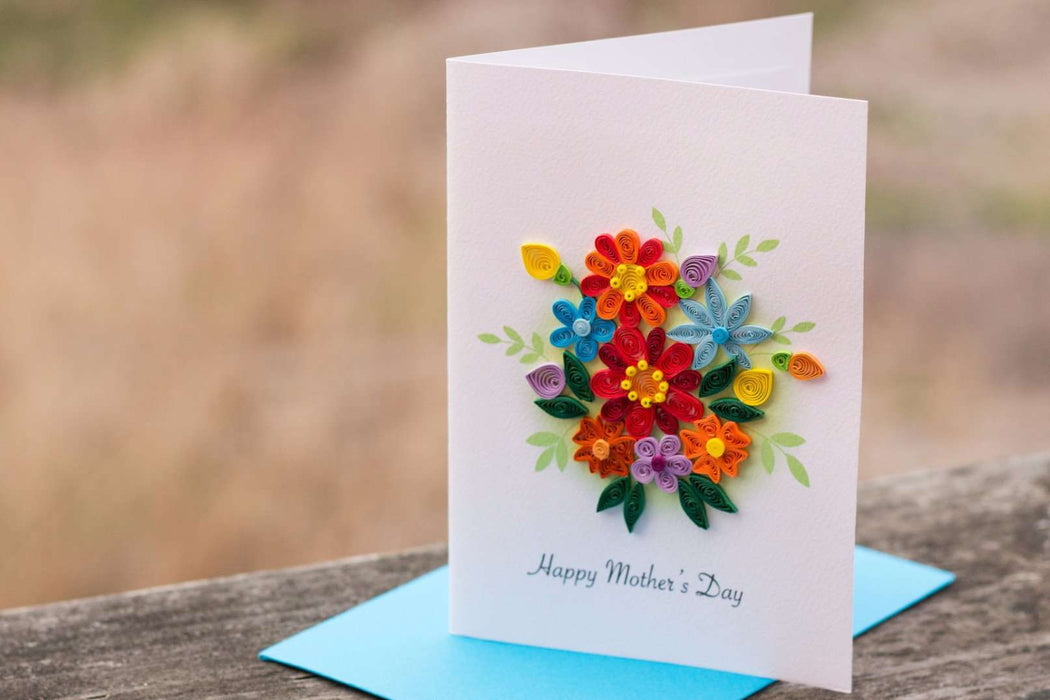 Mother's Day Bouquet Quilling Card - UViet Store