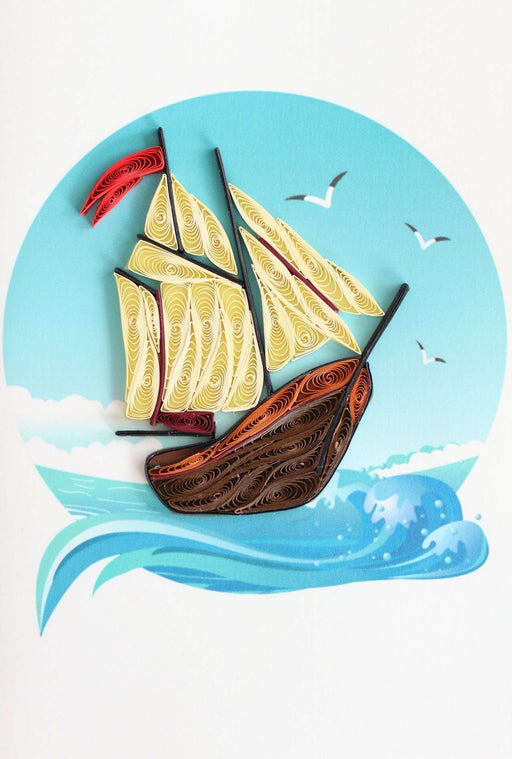 Gone Sailing Quilling Card - UViet Store
