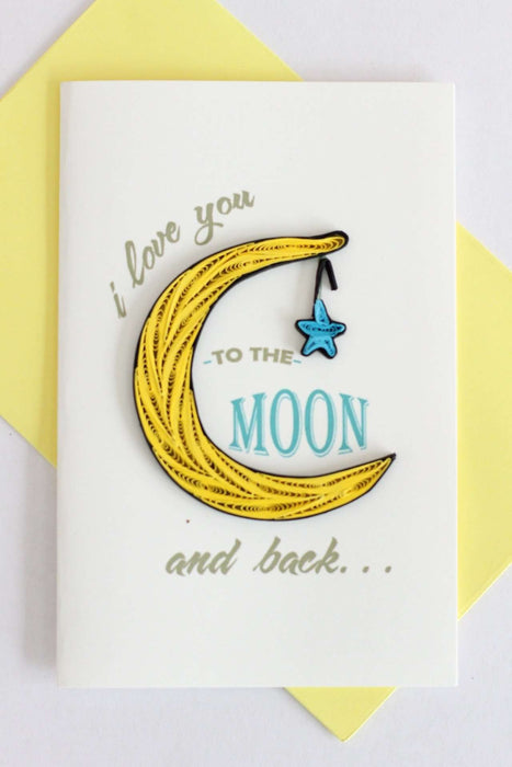 To the Moon and Back Quilling Card - UViet Store