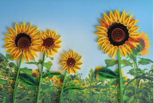 Sunflower Power Quilling Card - UViet Store