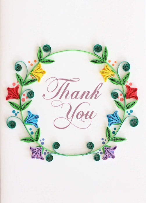Thank you Wreath Quilling Card - UViet Store