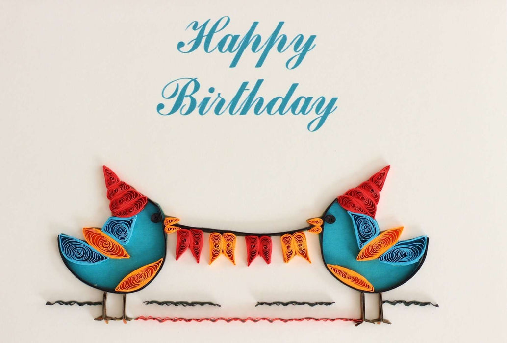 Tweet Birthday Quilling Card - UViet Store