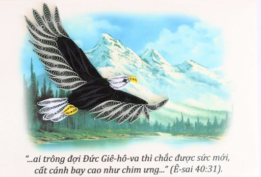 Wings as Eagles (Vietnamese text) Quilling Card - UViet Store