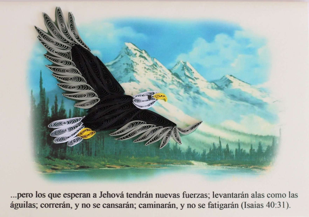 Wings as Eagles (Spanish Text) Quilling Card - UViet Store