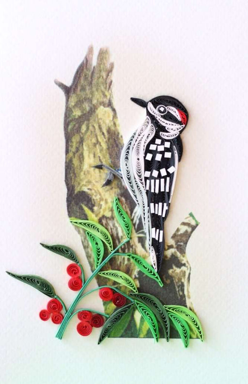 Downy Woodpecker Quilling Card - UViet Store