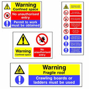 Multi Message Safety Signs from SK Signs and Labels