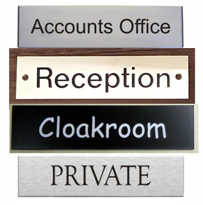 Engraved Door Signs by SK Signs and Labels