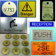 Engraved Labels and Tags from SK Signs and Labels