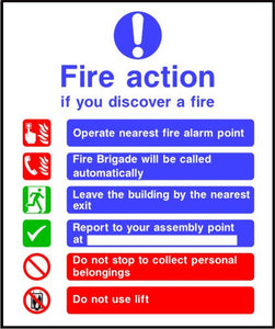 Fire Action Notice safety signs