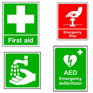 First Aid Safety Signs