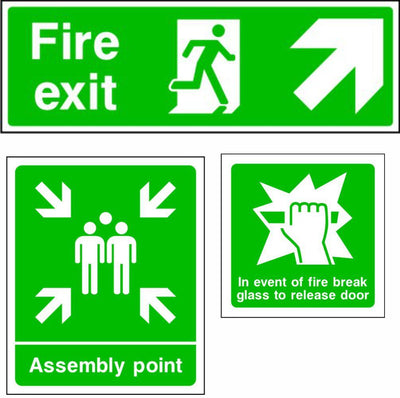 Fire Exit and Emergency Escape Safety Signs