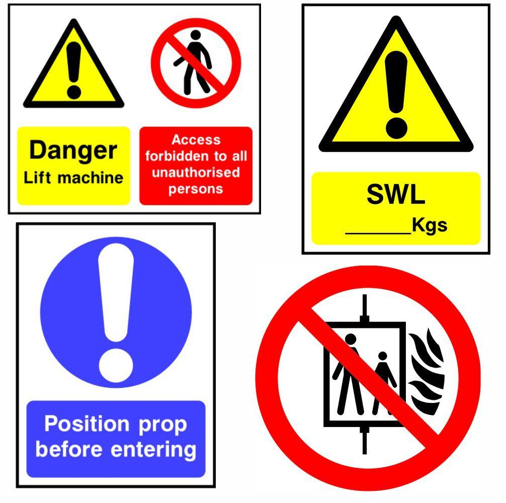Lift Safety Signs