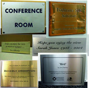 Engraved Plaques by Sk Signs