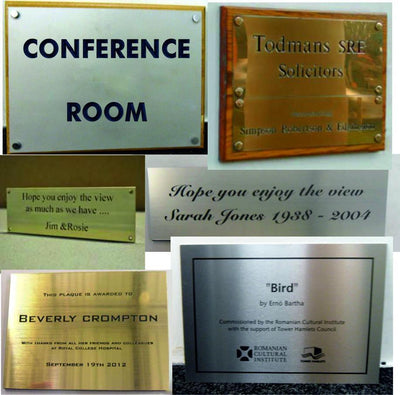 Engraved Plaques by SK Signs and Labels