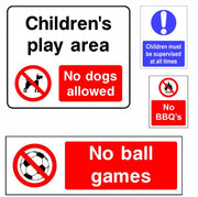 Park and Play Area Safety Signs