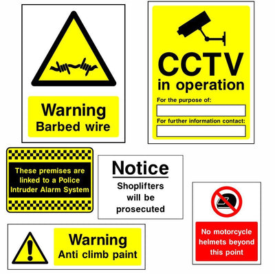 Security and CCTV Signs