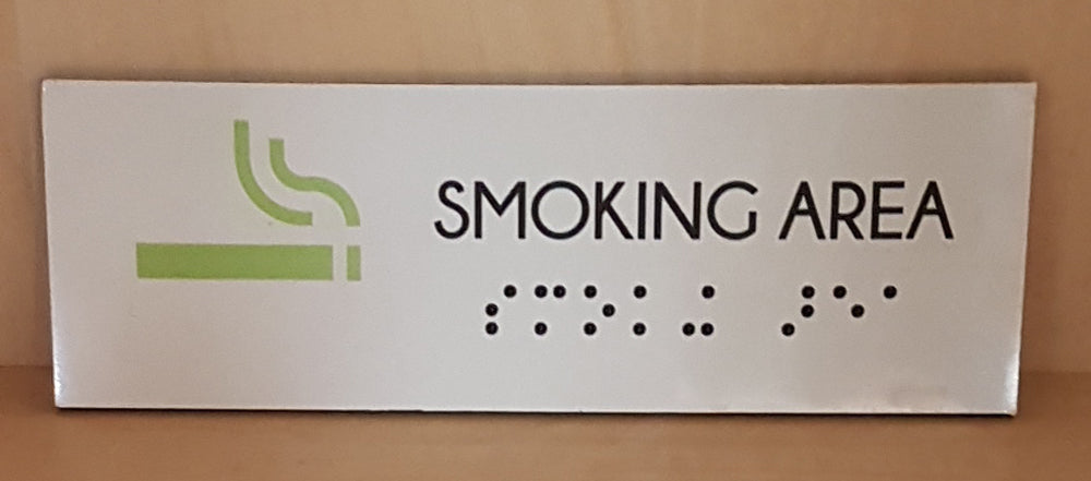 Braille printed direct to panel