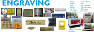 Engraving - Plaques- Discs-Namplates-Labels-Tags