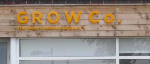 Grow Co Acrylic Letters made & installed by SK Signs