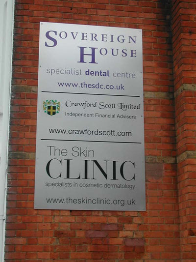 Dibond sign with vinyl graphics & digital prints