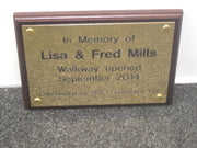 A4 Engraved Brass Plaque