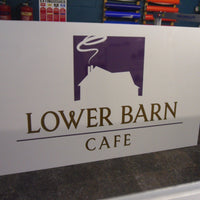 5mm Perspex sign with reverse graphics