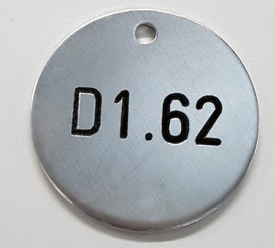 Engraved 25mm Aluminium Disc