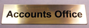 Engraved Laminate Accounts Office Door Sign