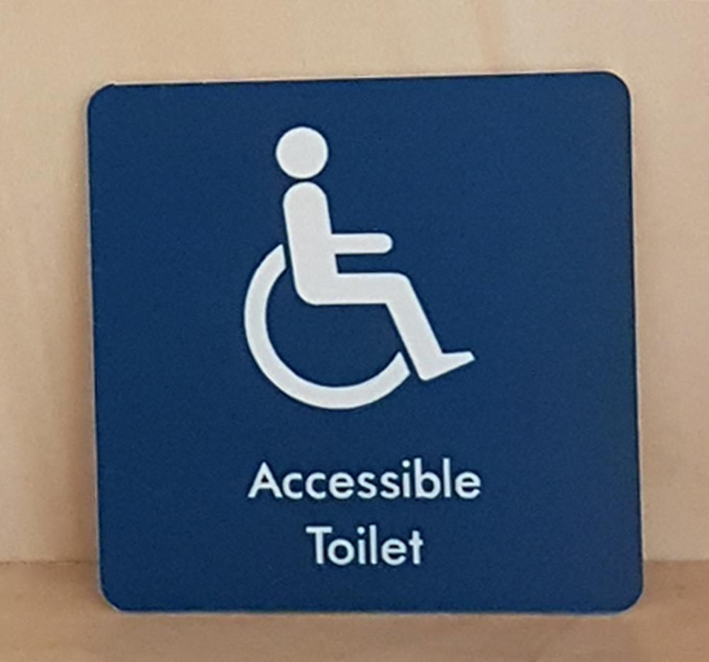 Engraved Accessible Toilet Symbol Sign