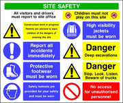 Site safety deep excavations multi message sign