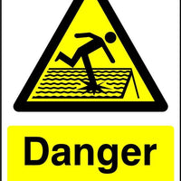 Danger fragile roof safety sign