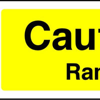 Caution Ramp site safety sign