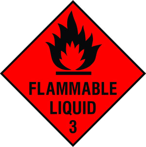 Flammable Liquid 3 diamond sign
