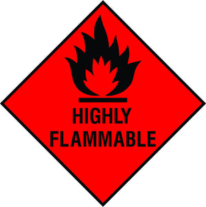Highly Flammable diamond sign