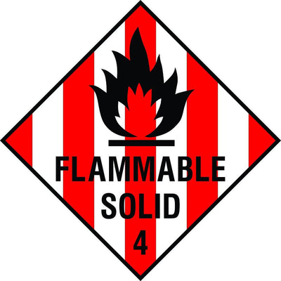 Flammable Solid 4 diamond sign