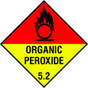 Organic Peroxide diamond sign