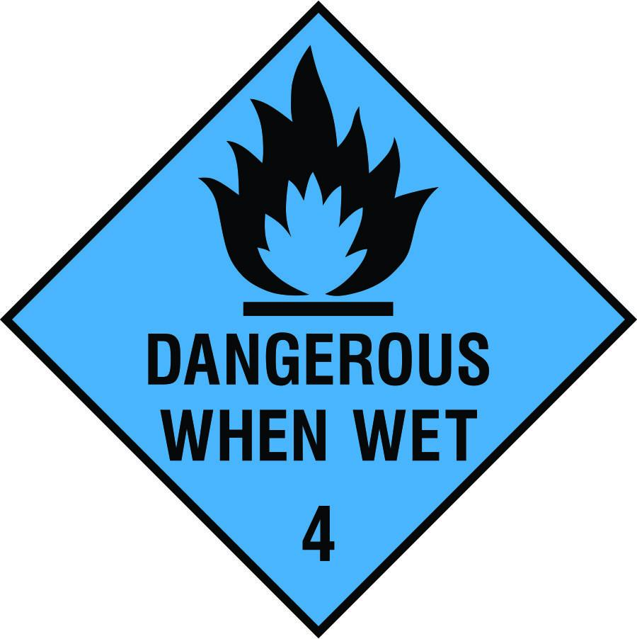 Dangerous when wet diamond sign