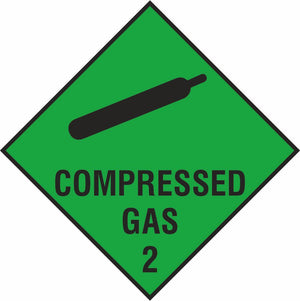 Compressed gas diamond sign
