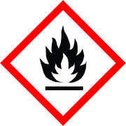 New International Flammable Symbol Labels