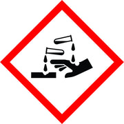 International Corrosive Symbol sign